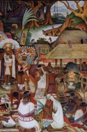 Mexico, fresque de Diego Rivera